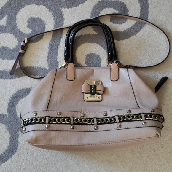 Cream guess handbag